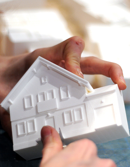 KLM Delft house 3D print, Local Makers Amsterdam