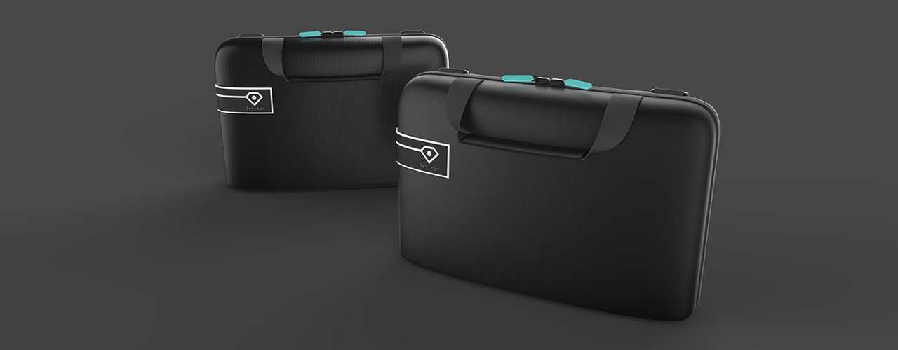 Gemvision bag, Product render, Local Makers Amsterdam