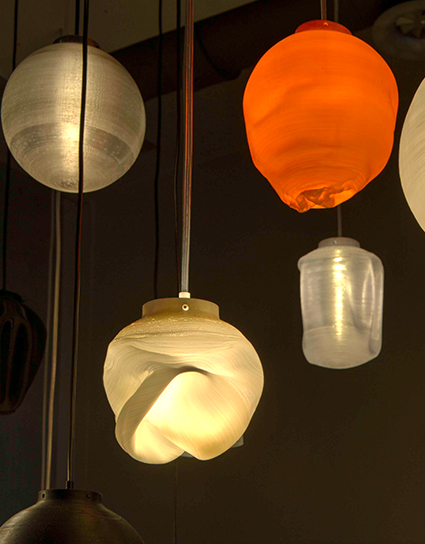 3D printed Lamps, Local Makers Amsterdam
