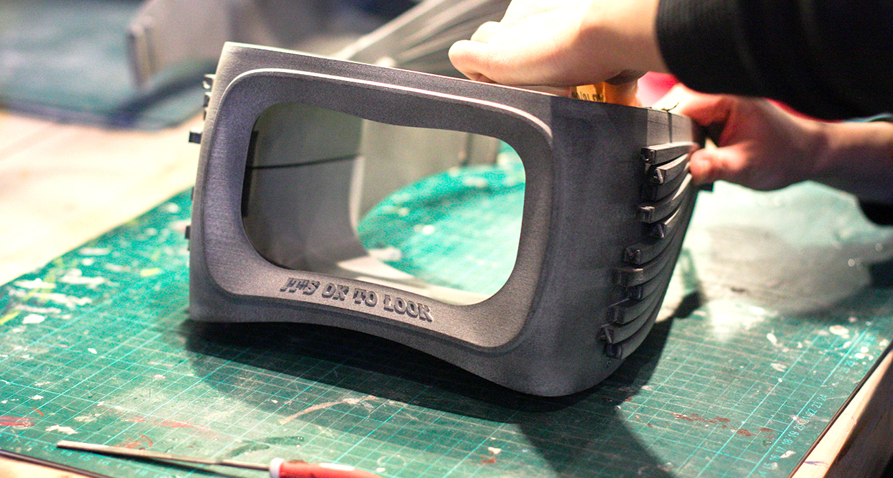 Tele2 VR glasses 3D Printed, Local Makers Amserdam